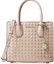 NWT MICHAEL Michael Kors STUDIO MERCER Studded MD Messenger Ballet Bag~MSRP$298