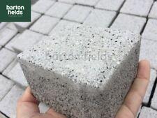 Granite Effect Shot Blast Cobbles, Setts, Edgings, SILVER, 10 x 10, Price Per 10