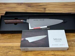 "ZWILLING Bob KRAMER MEIJI 8"" INCH Damascus CHEF'S KNIFE (38261-203) NEW In Box."