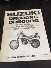 Suzuki DR600 RG DR500 RG Set-Up Assembly Manual