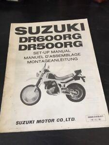 Suzuki DR600 RG DR500 RG Set-Up Assembly Manual