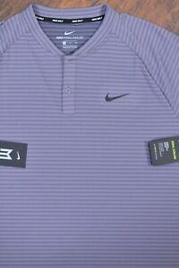 NWT Nike Golf Tiger Woods Zonal Cool Blade Polo Shirt Gray Men's XL
