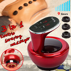 Electric Gua Sha Vacuum Scraping Therapy Massage Body Cupping Machine w/ 3 Heads