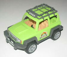 Playmobil Accessoire Décor Voiture 4X4 Vert avec Attelage & Galerie NEW