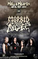 "MORBID ANGEL ""HELL & HEAVEN METAL FEST 2013"" GUADALJARA CONCERT TOUR POSTER"