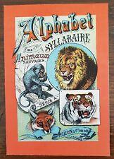 ALPHABET SYLLABAIRE DES ANIMAUX SAUVAGES. Série A. images Epinal. Très bon état