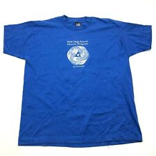 VINTAGE At Fermilab Shirt Size Extra Large XL Blue Tee Short Sleeve Men 80's USA