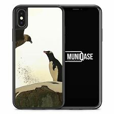 iPhone X Hülle SILIKON Case Pinguin & Vogel Tiere Schön Süß Cover Schale
