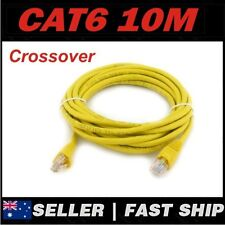 1 x 10m Yellow Cat 6 Cat6 Crossover 1000Mbps Premium RJ45 Ethernet Network Cable