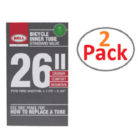 Bell 26'' STANDARD UNIVERSAL BICYCLE INNER TUBE,1.75-2.25, 035011000718 (2 Pack)