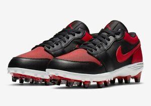 Air Jordan 1 TD Mens Retro Low Football Bred Black Red AV5292 061 Size 11.5 Nike