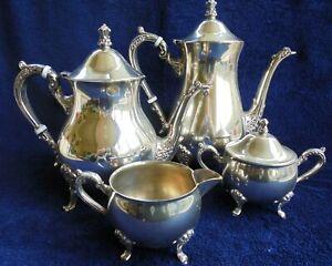 VINTAGE AUSTRALIAN SILVER PLATE TEA POT SET SARACEN