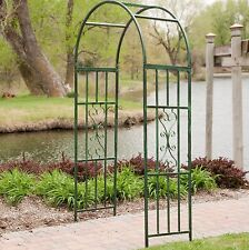 Metal Archway Arch Arbor Garden Wedding Trellis Outdoor Entrance Accent Green