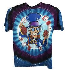 Liquid Blue T Shirt Men's Sz M 2003 Mad Hatter Grateful Dead Brian Fox 2 Sided