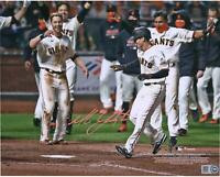 "Mike Yastrzemski San Francisco Giants Signed 8"" x 10"" Walk-Off Celebration Photo"