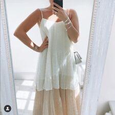 Zara Metallic Thread Pleated Dress Size SMALL & LARGE BNWT