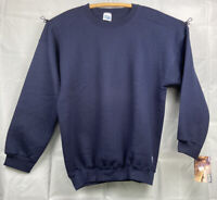 NWT Vintage 90s Discus Athletic Navy Blue Pullover Sweatshirt Crewneck Mens XL