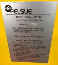 Pelsue Model 1660C Heater, 115 V.A.C., 60 Hz, 1 Phase, 5.6 Amps