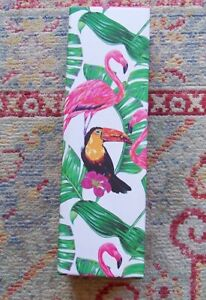 Avon Tropical Infuser Water/Drink Bottle  Flamingo Toucan Bird Leaf Design (93)