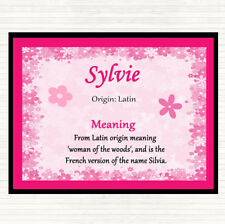 Sylvie Name Meaning Dinner Table Placemat Pink
