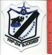 VMF-214 BLACK SHEEP WW2 USMC MARINE F4U CORSAIR Pappy Boyington Patch AV-8B