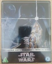 Star Wars Episode IV - A New Hope BLU RAY STEELBOOK 4K ULTRA HD 3 disc