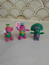 Vintage Barney and Friends Miniature Figurines Baby Bop Stop Sign Go Flag 1993