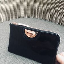 Mimco Echo Black Rose Gold Patent Leather Pouch Wallet• Authentic • New  with Tag 17286b7666f2d