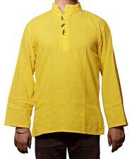 Men's Indian Cotton Shirt Short Kurta - Indian Clothing Fashion Dress
