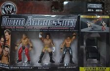 WWE MICRO AGGRESSION SHAWN MICHAELS CM PUNK & CHRIS JERICHO FIGURES
