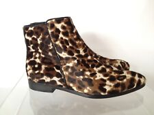 J.CREW Collection Calf Hair Ankle Boots 6 Sienna Black Cat Animal Print $398
