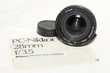 Nikon PC Nikkor Perspective Control 28mm F/3.5 Lens