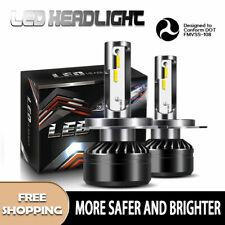 H4 9003 LED Headlight Bulbs Kit Hi/Low Beam Conversion 60W 12000LM 6000K White