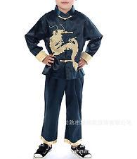 Chinese Oriental Childrens Boys Royal Blue Dragon Top Troushers Pyjamas chboy5