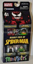 Marvel Minimates Deadly Foes of Spider-Man BoxSet:Carnage Lizard Sandman Doc Ock