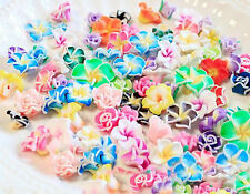 20 pcs mixed Wholesale Lot Small Clay Flower Kawaii Flatback Resin Cabochons
