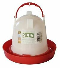 Supa Red and White Plastic Poultry Drinker 1.5L - 4242