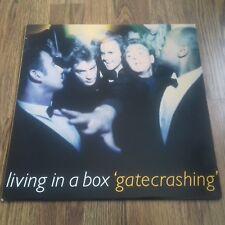 LIVING IN A BOX - GATECRASHING LP 1989 CHRYSALIS EX+
