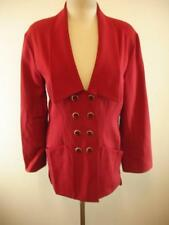 womens 6 36 Karl Lagerfeld made in France red 100% wool jacket blazer suit coat