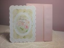 Carol's Rose Garden - Wedding - A  Lace design around 3 Pink Roses on cover