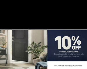 One 1x Lowes 10% Off- Exp 1/31 Works IN STORE + ONLINE Fast_SHIP MESSAGEDelivery