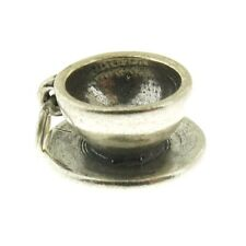925 Sterling Silver Cup and Saucer Charm Made in USA