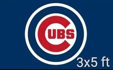 Chicago Cubs baseball 3x5ft two grommet sports flag/banner