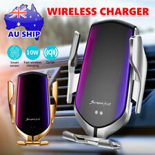 Automatic Clamping Qi Wireless Car Charger Fast Charging Mount Phone Holder Rack