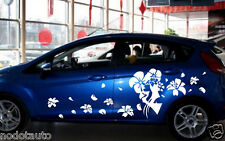 Car Flowers Door Decals  for Fiesta Decal Vinyl Graphics Side stickers  #712