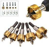 5pcs HSS Hole Saw Tooth Drill Bit Cutter Tool For Metal Wood Alloy Set Kits