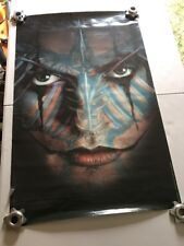 The Crow Movie Poster 1996 Blue Crow Face Overlay - Used - RARE