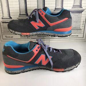 RARE New Balance Men Size 16 2E Retro Gray Blue Orange Shoes 574 Encap ML574DGB