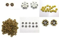 SOLID COPPER BALI DAISY SPACER BEADS OXIDIZED STERLING SILVER PLATED GOLD PLATED