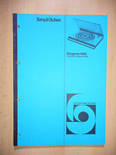 Service-Manual Bang&Olufsen Beogram 6000 (5751,5753,5754)  ,ORIGINAL